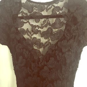 LBD Sexy little black lace dress.